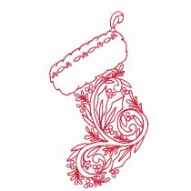 Jacobean Christmas Redwork Machine Embroidery Designs by JuJu