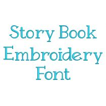 Story Book Embroidery Font