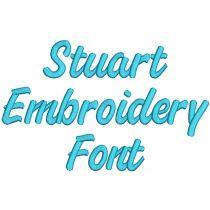 Stuart Embroidery Font