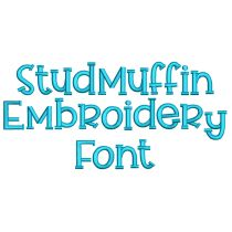 Stud Muffin Embroidery Font