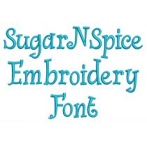 Sugar N Spice Embroidery Font