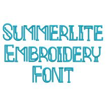 Summerlite Embroidery Font