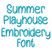 Summer Playhouse Embroidery Font