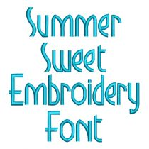 Summer Sweet Embroidery Font