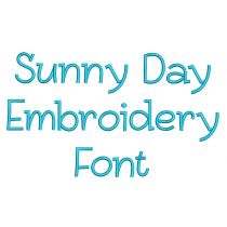 Sunny Day Embroidery Font