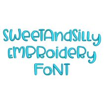 Sweet And Silly Embroidery Font