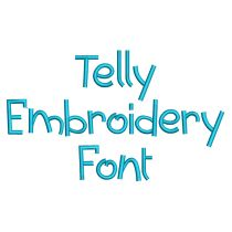 Telly Embroidery Font