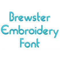Brewster Embroidery Font