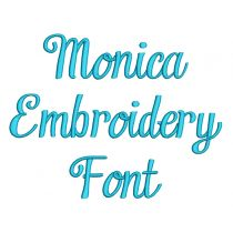 Monica Embroidery Font