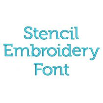 Stencil Embroidery Font