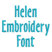 Helen Embroidery Font