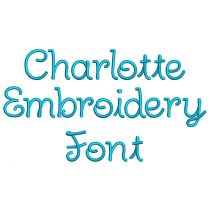 Charlotte Embroidery Font