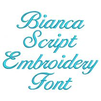 Bianca Script Embroidery Font