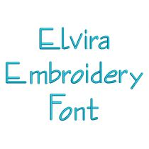 Elvira Embroidery Font