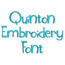 Quinton Embroidery Font