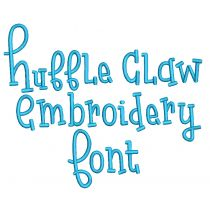 Huffle Claw Embroidery Font