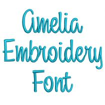 Amelia Embroidery Font