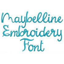 Maybelline Embroidery Font