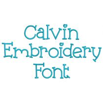 Calvin Embroidery Font