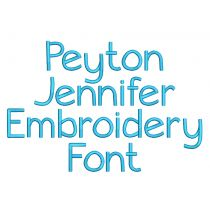 Peyton Jennifer Embroidery Font