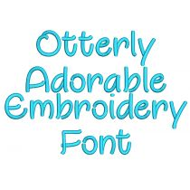 Otterly Adorable Embroidery Font