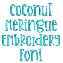 Coconut Meringue Embroidery Font