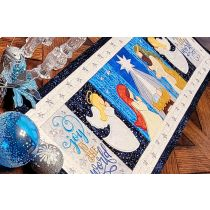 ITH Nativity Table Runner Digital Embroidery Machine Designs by JuJu