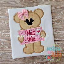Valentine Letter Bear Girl