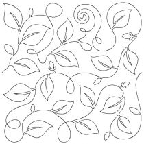 Vine 3 Edge-To-Edge Embroidery Design End-to-End Quilt Block by JuJu e2e