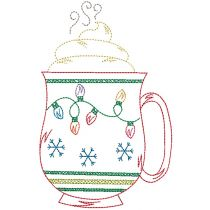 Vintage Stitch Christmas Mugs