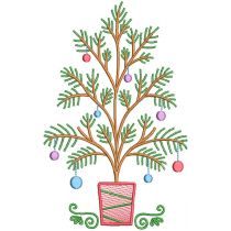 Vintage Sketch Christmas Trees