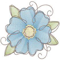 Vintage Sketch Flowers 1