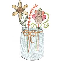 Vintage Sketch Holiday Mason Jars
