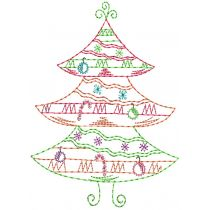 Vintage Stitch Sweet Christmas Trees