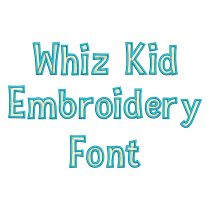 Whiz Kid Embroidery Font