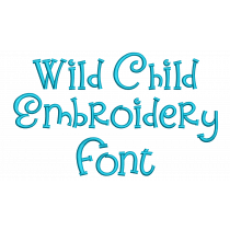 Wild Child Embroidery Font