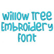 Willow Tree Embroidery Font