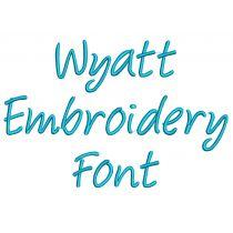 Wyatt Embroidery Font
