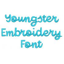 Youngster Embroidery Font