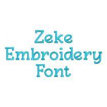 Zeke Embroidery Font