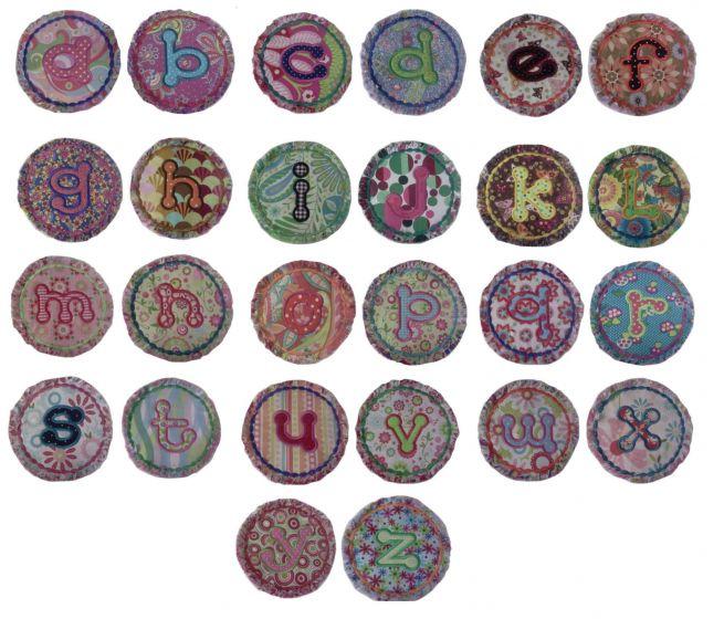 Raggedy raggy dots applique alphabet monogram font