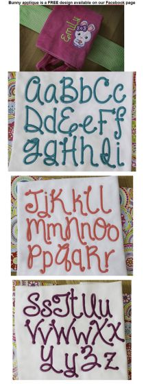 Macy embroidery font alphabet or monogram