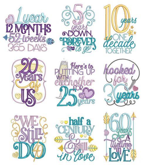 Anniversary Word Art