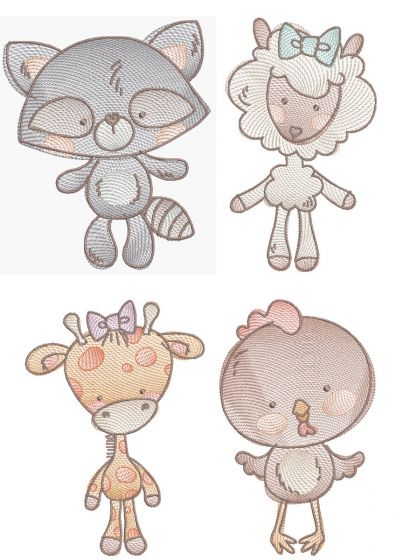 All The Critters Sketch 4