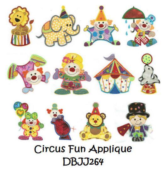 Circus Fun Applique