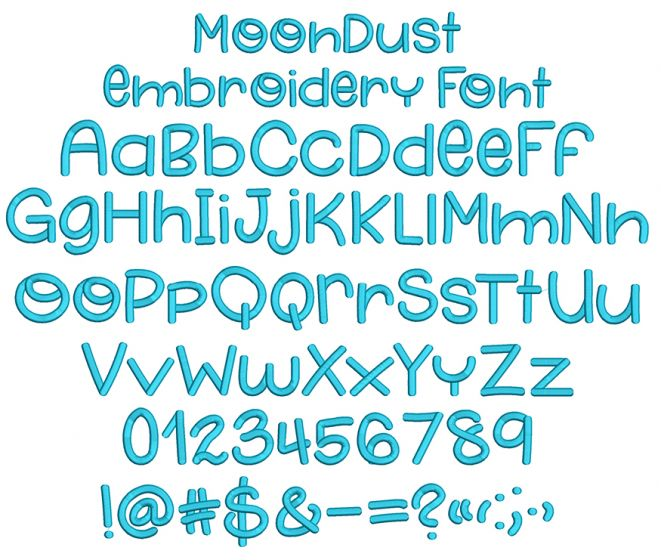 Moon Dust Embroidery Font Machine Embroidery Designs by JuJu