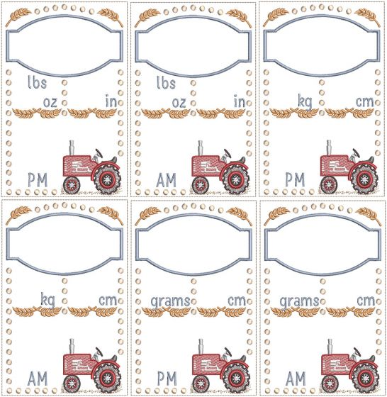 Vintage Tractor Birth Announcement
