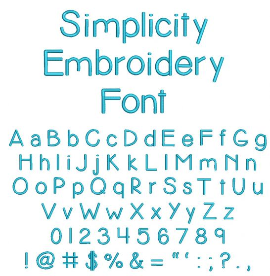Simplicity Embroidery Font Machine Embroidery Designs by JuJu
