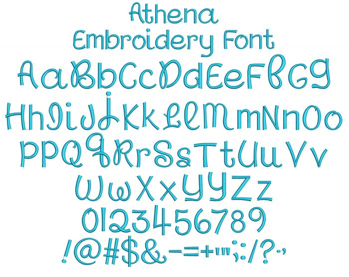 Athena Embroidery Font Machine Embroidery Designs by JuJu