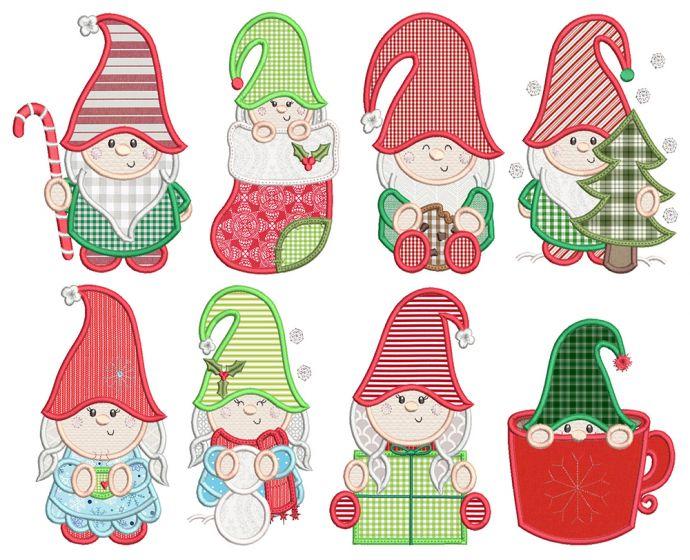 Christmas Gnomes Applique 1